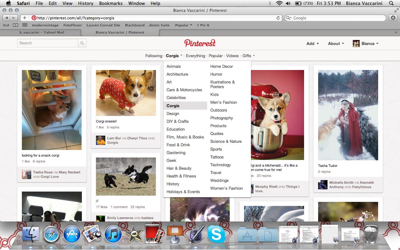 Pinterest Categories: Pinterest Rolls Out New Categories