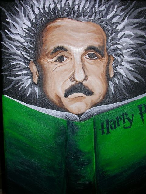 Einstein reading Potter