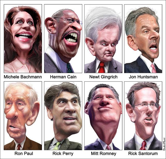 GOP Presidential Debate September 7, 2011 in California by DonkeyHotey