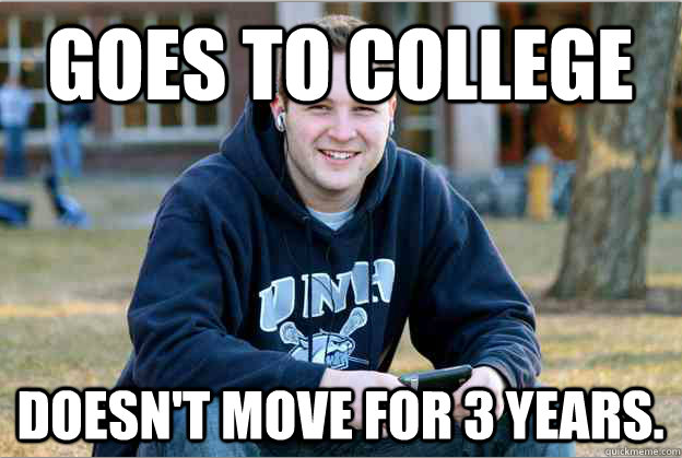 collegesenior college freshman meme guy morphs to successful college senior in