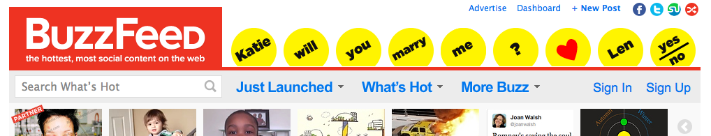 BuzzFeed dashboard