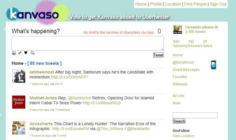 Kanvaso screenshot
