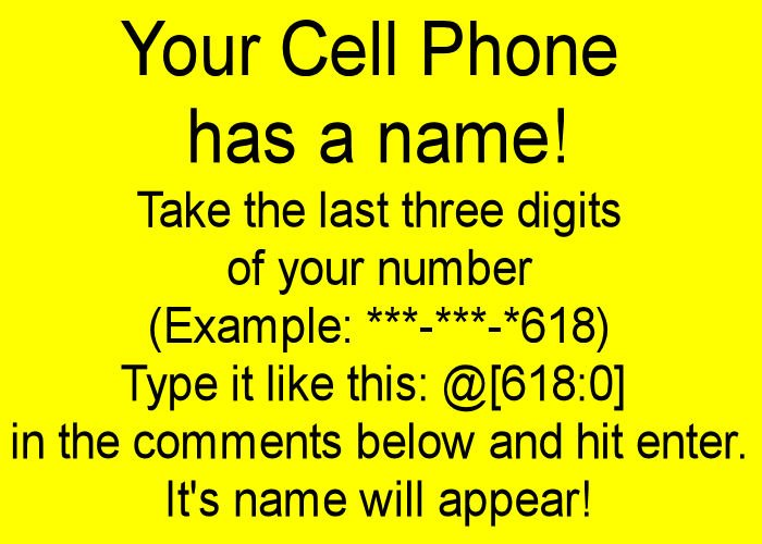 Your cell phone has a number