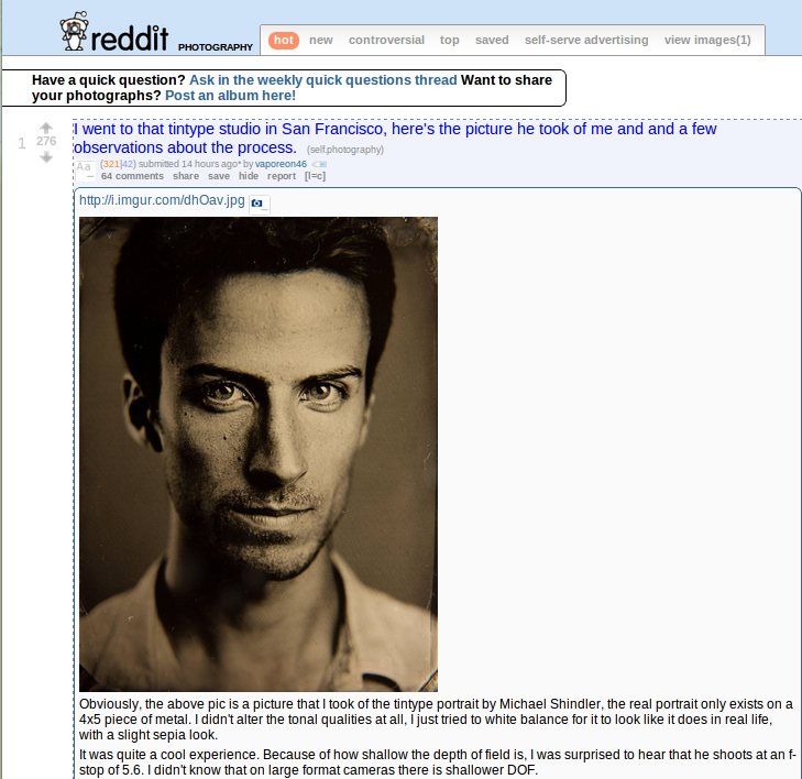 How to reach photographic excellence through Reddit in 7